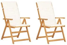 vidaXL Sklápacie záhradné stoličky 2ks hnedé masívne akáciové drevo