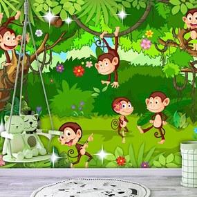 Fototapeta - Monkey Tricks 200x140 + zadarmo lepidlo