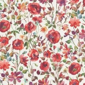 Vliesové tapety na stenu Natural Living 6330-06, rozmer 10,05 m x 0,53 cm, vlčie maky červené, Erismann