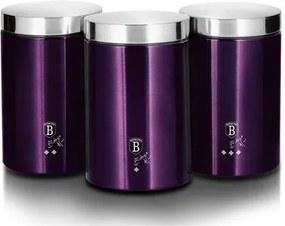 Berlinger Haus 3-dielna sada dóz na potraviny Purple Metallic Line