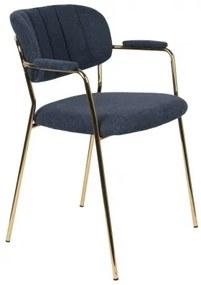 WLL JOLIEN ARMCHAIR GOLD stolička Modrá
