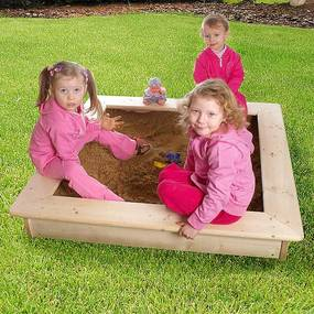 Detské pieskovisko s poklopom + bábovičky ZADARMO (sila dreva 26 mm)