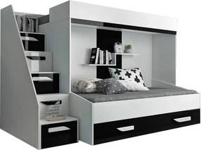 SB Multifunkčná poschodová posteľ Party 16 Farba: Čierna