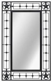 vidaXL Nástenné zrkadlo obdĺžnikové 50x80 cm čierne