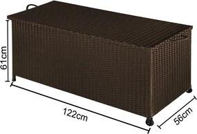 Záhradný úložný box D3761 hnedá Dekorhome