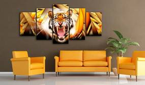 Obraz na plátne Bimago - Energy of Tiger 100x50 cm