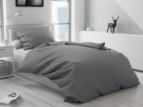 Bavlnené obliečky Lux sivé knoflík