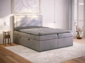 PROXIMA.store - Kontinentálna posteľ AVILA - sivá - 120/140/160/180 Veľkosť postele: Pre matrac 140 x 200 cm