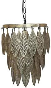 Chic Antique Závesná kovová lampa Antique Brass