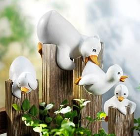 Dekorácia na plot Kačacie rodinka