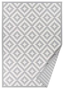 Sivý vzorovaný obojstranný koberec Narma Viki, 70x140cm