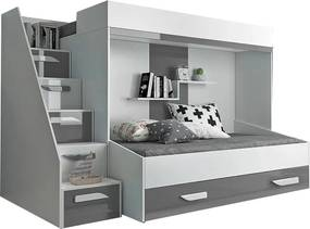SB Multifunkčná poschodová posteľ Party 16 Farba: Sivá