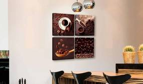 InSmile Čtyřdílný obraz ranní káva 80x80 cm