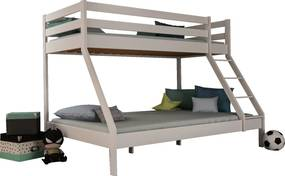 MF Poschodová posteľ s rozšíreným spodným lôžkom Mikael Biela 140x200 Variant úložný box: Bez úložného boxu