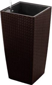 G21 Samozavlažovací kvetináč Linea ratan mocha 55 cm