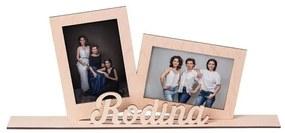 ČistéDrevo Drevený fotorámik rodina