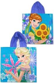 Setino · Pončo - osuška s kapucňou Ľadové kráľovstvo - Frozen - Anna & Elsa - 100% bavlna - 55 x 110 cm