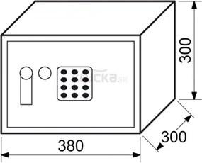 RS30 EDK elektronický sejf