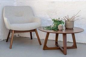 Dizajnový konferenčný stolík Miriam, orech