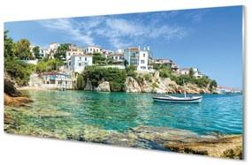 Nástenný panel Grécko Sea mestského života 100x50cm
