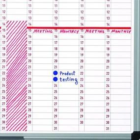 Bi-Office Ročná plánovacia tabuľa, dni, 900x600 mm