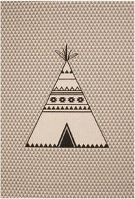 Detský hnedý koberec Zala Living Teepee, 120 × 170 cm
