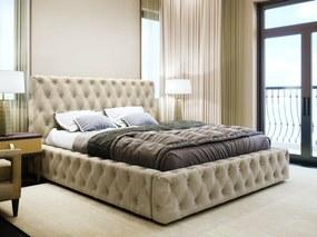 PROXIMA.store - Čalúnená posteľ s kryštálikmi AMADUES II - Béžová 160 Platba: Dobierka, Veľkosť postele: Pre matrac 160 x 200 cm, Matrac: S matracom (pružinový matrac)