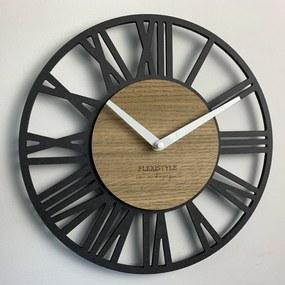 DomTextilu Nástenné hodiny v luxusnom štýle LOFT PICCOLO 30cm 16612