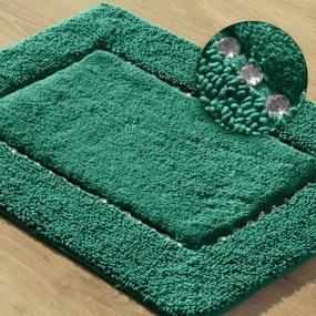 DomTextilu Tmavozelený bavlnený koberček do kúpeľne 44481-208313 Zelená