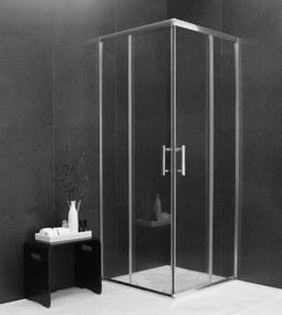 MEXEN RIO - Štvorcový sprchovací kút 80x80 cm, priehľadná-chróm, 860-080-080-01-00