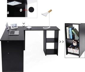 Rongomic Písací rohový stôl SKU Zion čierny