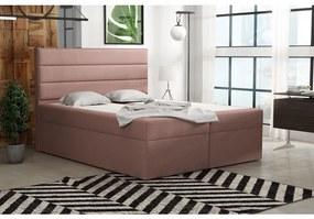 Boxspringová posteľ 120x200 INGA - ružová 1