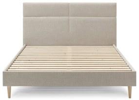 Béžová dvojlôžková posteľ Bobochic Paris Elyna Light, 180 x 200 cm