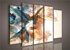 Obraz na plátne, rozmer 150 x 100 cm, kolibrík, IMPOL TRADE PP260S12