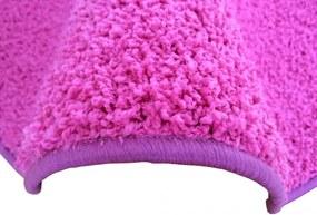 Vopi koberce AKCE: 60x580 cm Metrážový koberec Color Shaggy růžový - Rozměr na míru s obšitím cm