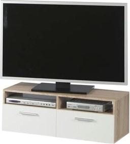 Sconto TV stolík RANA dub sonoma/biela