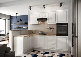 Rohová kuchyňa Amelia ľavý roh 255x170 cm (biela matná)