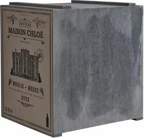 Butlers VINOTHEK Regál na víno - šedá