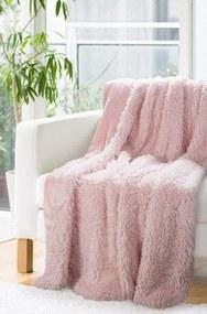 DomTextilu Dekoratívna deka prehoz v púdrovo ružovej farbe Šírka: 200 cm | Dĺžka: 220 cm 29105-158384