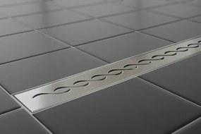 EURO Sprchový podlahový žľab 70 cm - VLNA M7001