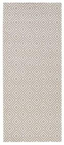 Sivý koberec vhodný aj do exteriéru Bougari Karo, 80 × 150 cm