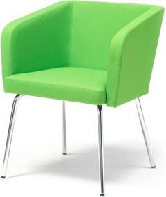 Konferenčné kreslo Stratford, chrómované nohy, zelená