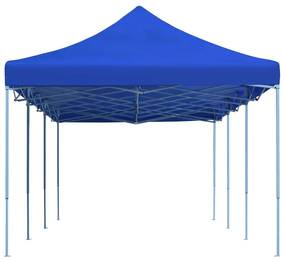 vidaXL Skladací párty stan modrý 3x9 m