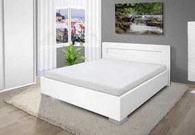 Luxusná posteľ Mia 140x200 cm Barva: eko bílá, úložný priestor: ano