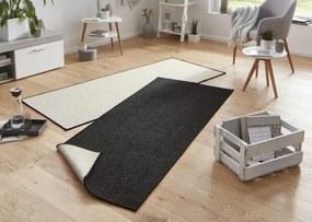 Bougari - Hanse Home koberce Kusový koberec Twin-Wendeteppiche 103096 schwarz creme - 80x150 cm