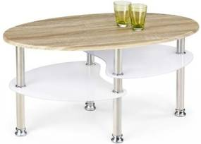 Konferenčný stolík Medea (dub sonoma / extra biela)