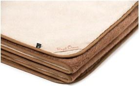 Hnedo-béžová deka z ťavej vlny Royal Dream Cappucino and Chocolate, 140 x 200 cm