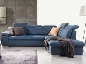 Rohová sedacia súprava Aldon 2F-OTM, modrá tkanina