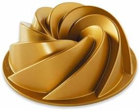 Nordic Ware Forma na bábovku Heritage, zlatá, 1,4 l