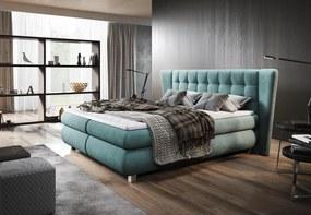 Luxusná box spring posteľ Florencia 180x200 WSL: Potah Eko-kůže Madryt 120 bílá